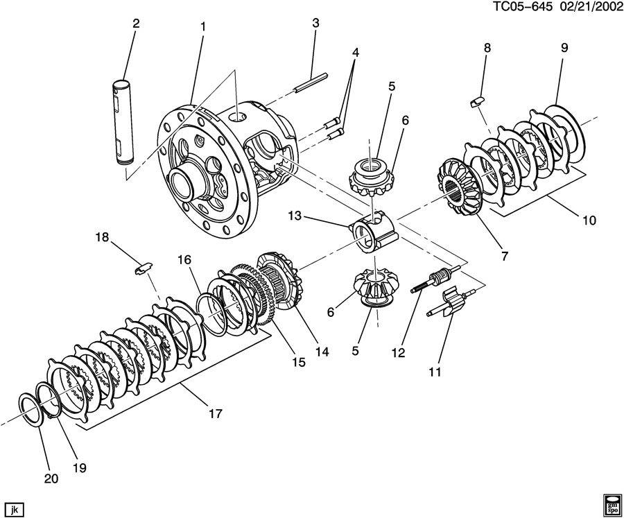 Chevrolet AXLE ASM/REAR 11.50 RING GEAR PART 2 LOCKING