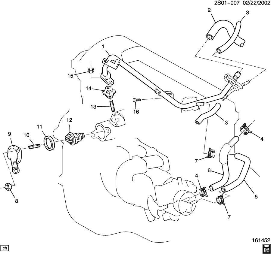 Pontiac Vibe ENGINE COOLANT THERMOSTAT & HOUSING-HEATER