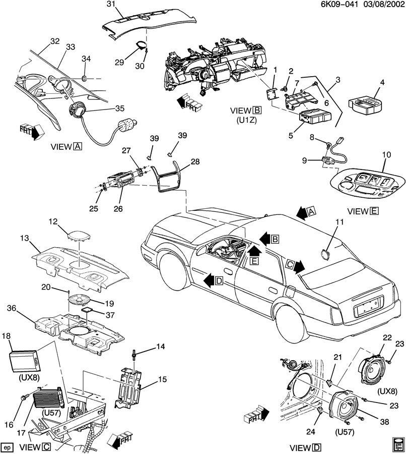 2000 Cadillac Deville AUDIO SYSTEM