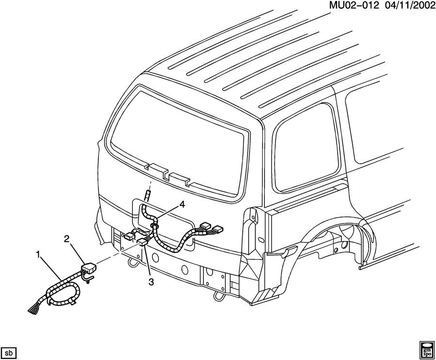 2000 Chevrolet Venture WIRING HARNESS/TRAILER
