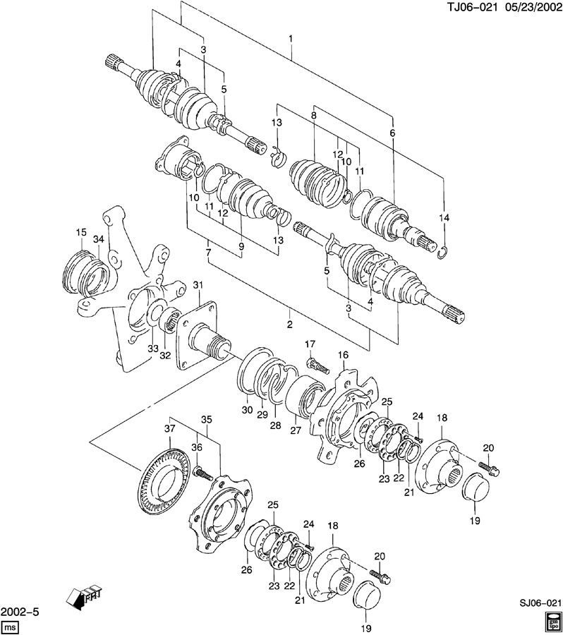 2000 Chevy Tracker Exhaust System Diagram : 41 Wiring