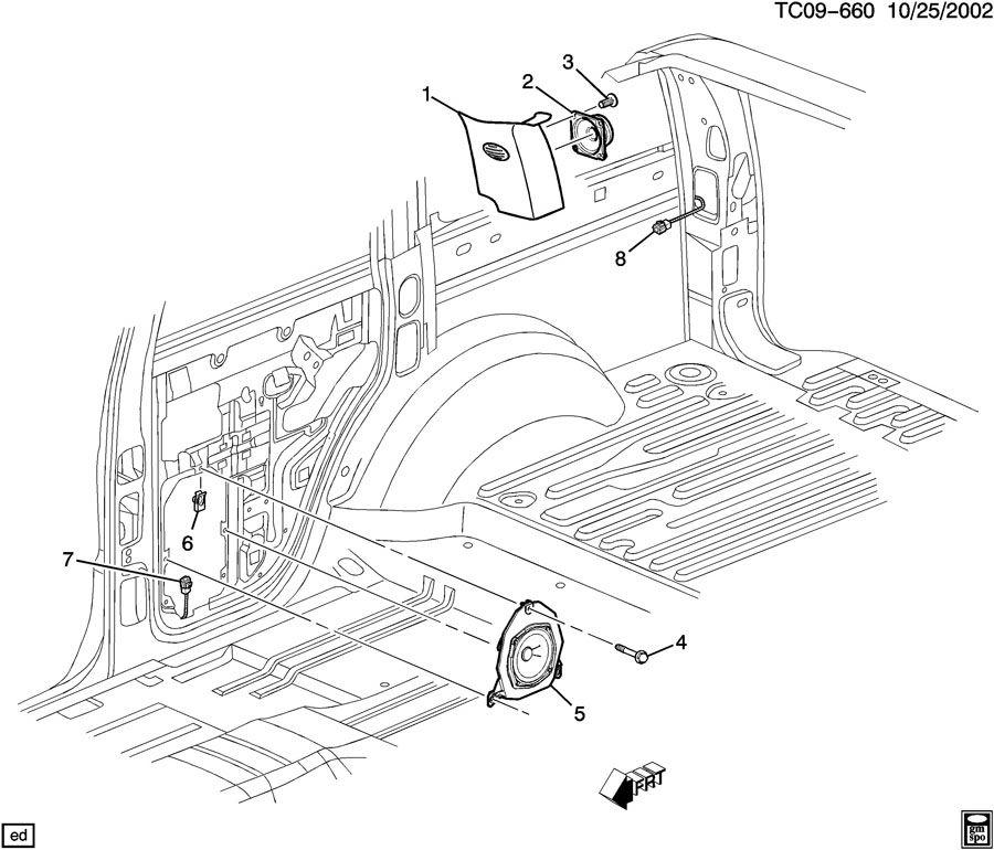 2006 Chevrolet Silverado AUDIO SYSTEM/REAR SPEAKERS