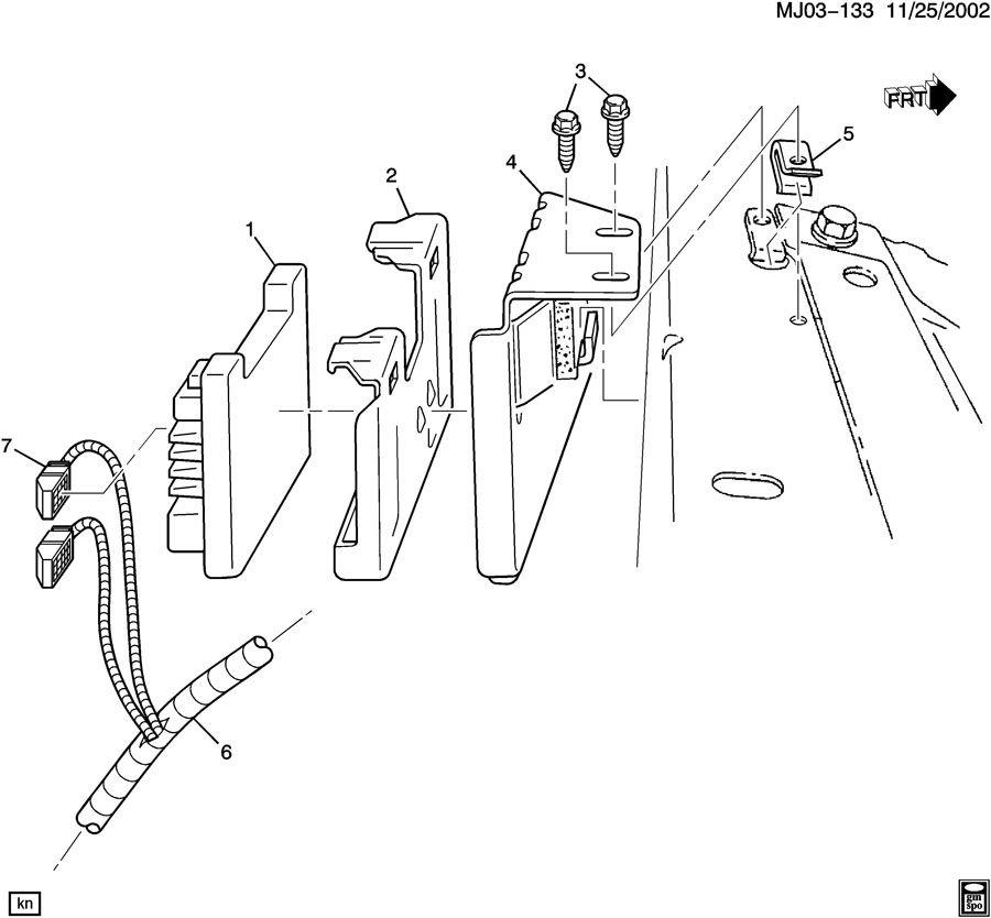 Chevrolet Cavalier P.C.M. MODULE & WIRING HARNESS