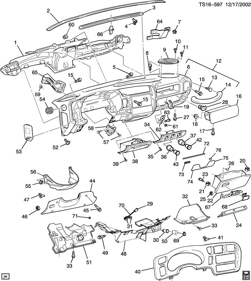 INSTRUMENT PANEL & RELATED PARTS PART 1