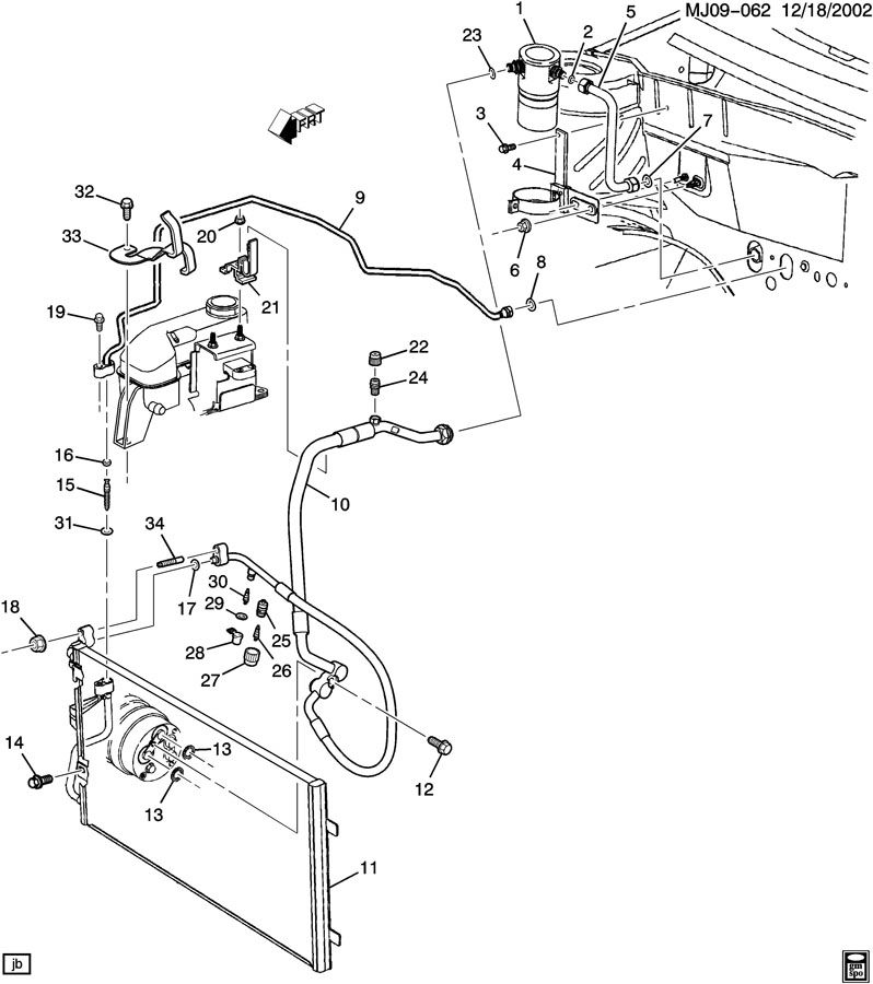 2002 Pontiac Sunfire Air Conditioning Diagram