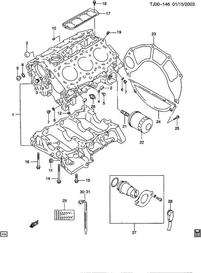 CYLINDER BLOCK FOR THE 2.5 LITER V6 ENGINE