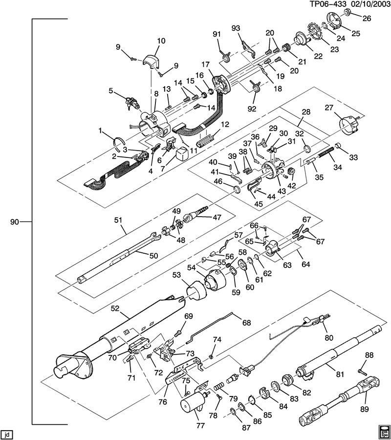 ford steering column wiring diagram of 1957
