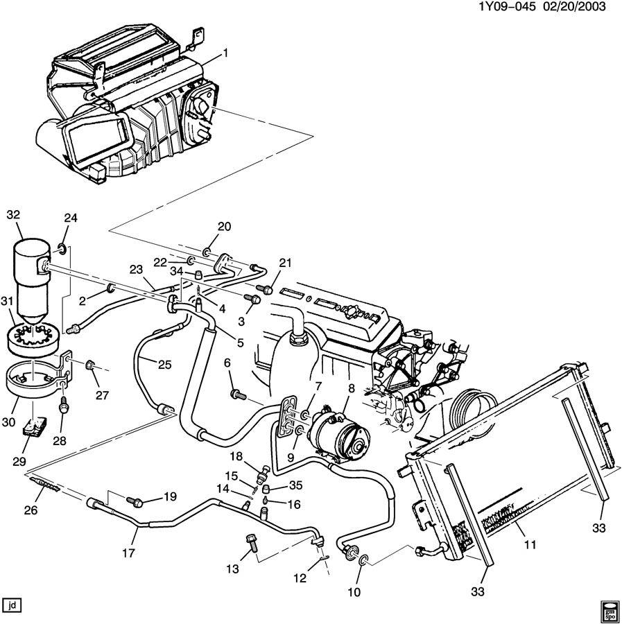 medium resolution of gm ac parts diagram wiring diagram centre e39 540 ac hoses to gm compressor and condensergm