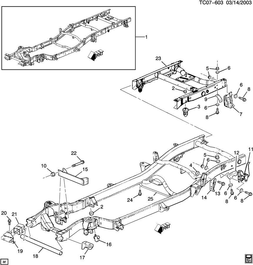 2000 Chevy Silverado Frame Parts Diagram. Harness. Auto