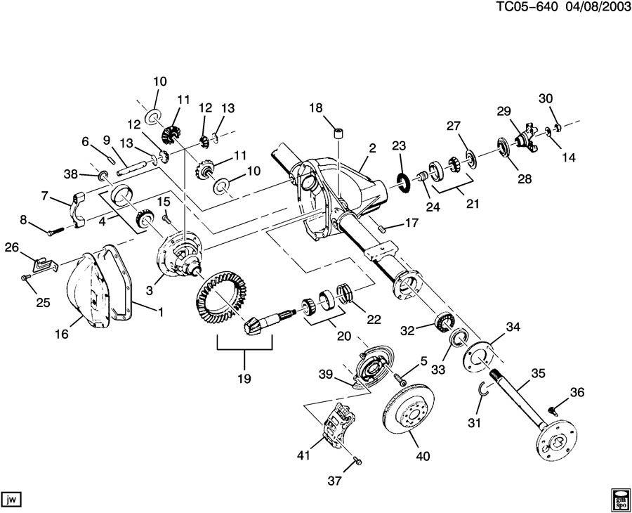 Chevrolet AXLE ASM/REAR 8.625 RING GEAR