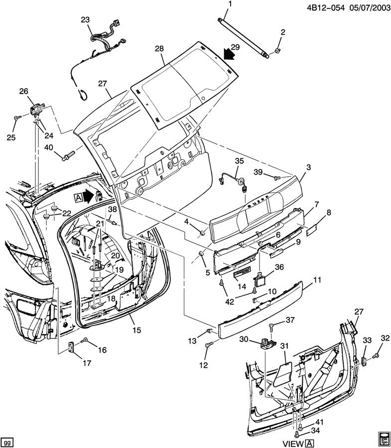 2005 Buick Rendezvous Engine Diagram