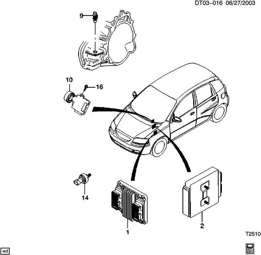 Chevrolet Aveo EMISSION CONTROLS MODULES