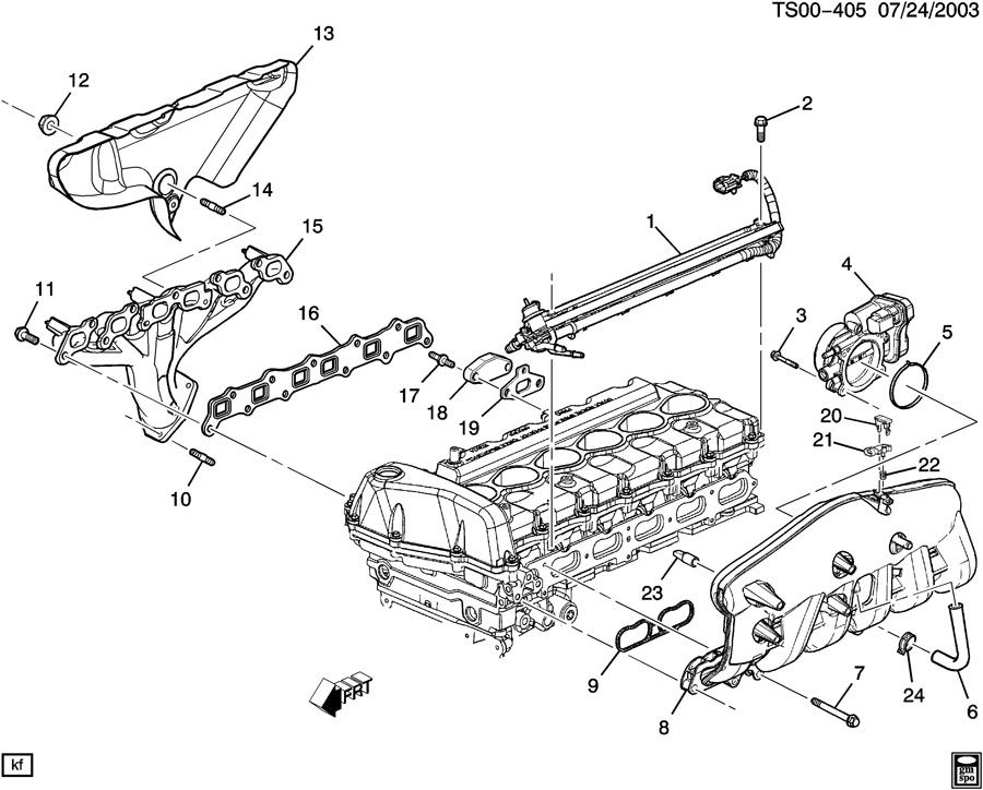 ENGINE ASM-4.2L L6 PART 5 MANIFOLDS AND FUEL RELATED PARTS