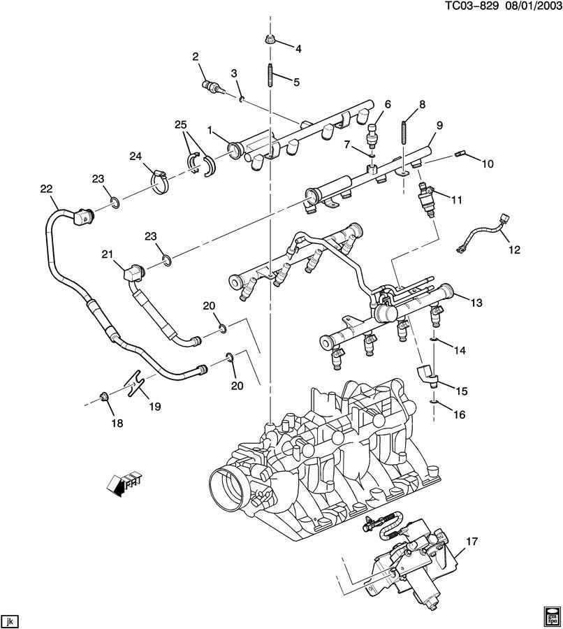 CK259 FUEL INJECTOR RAIL/NATURAL GAS