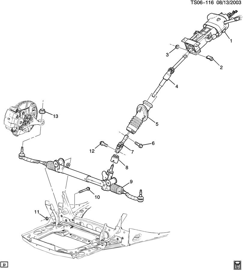 GMC ENVOY STEERING SYSTEM & RELATED PARTS