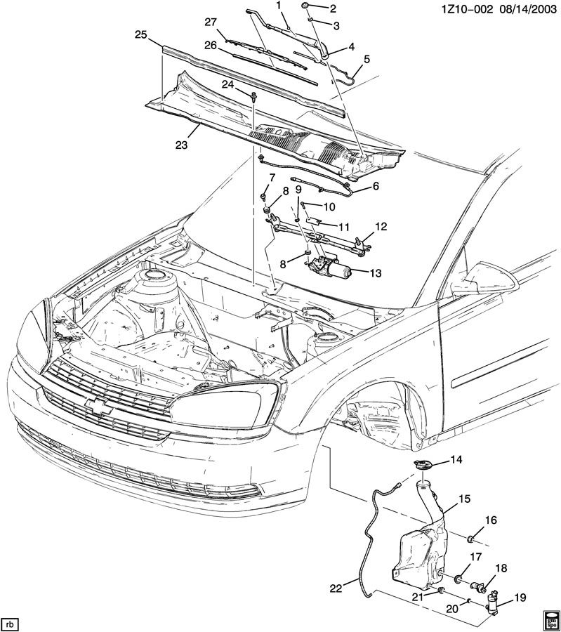 2006 Chevrolet Malibu WIPER SYSTEM/WINDSHIELD