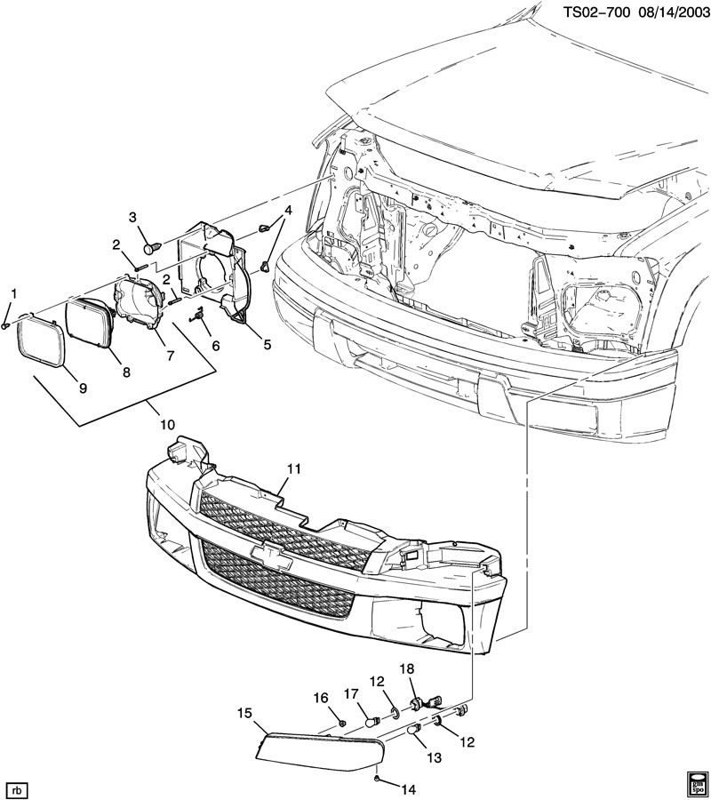 Part Diagrams Chevrolet Colorado Gmc Canyon Forum In