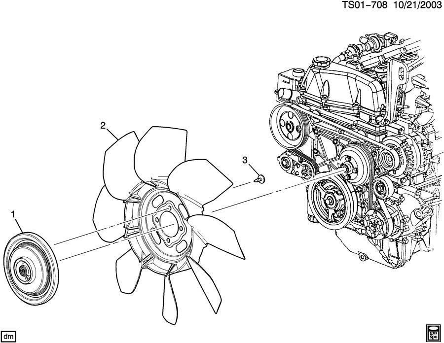 Engine coolant fan & clutch (llr/3.7e); (llv/2.9-9,llr/3