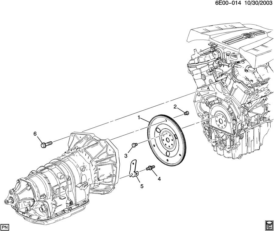 Service manual [Removing Transmission 2005 Cadillac Srx