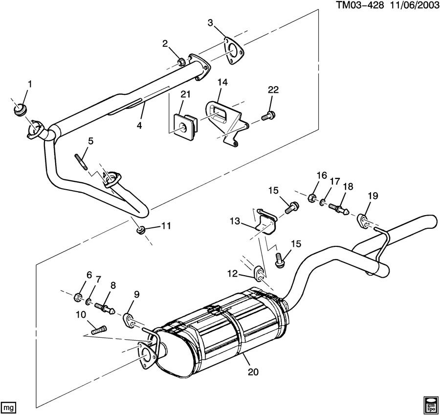EXHAUST SYSTEM-4.3L V6