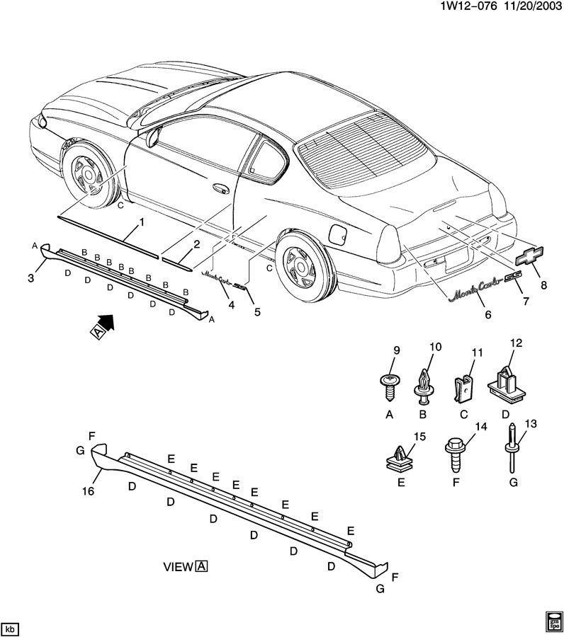 2003 Chevy Monte Carlo Diagram, 2003, Free Engine Image