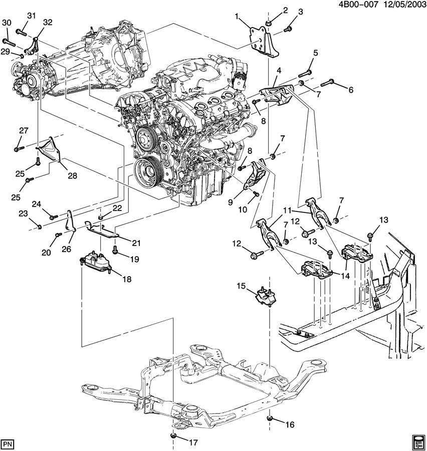 ENGINE & TRANSAXLE MOUNTING