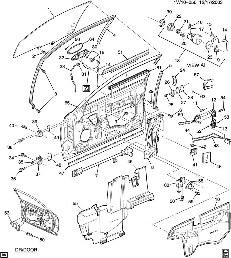 2001 Chevrolet Monte Carlo SS DOOR HARDWARE/FRONT