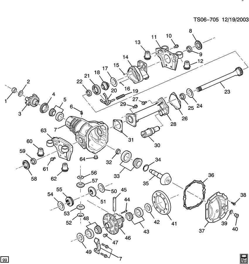 DIFFERENTIAL CARRIER/FRONT AXLE