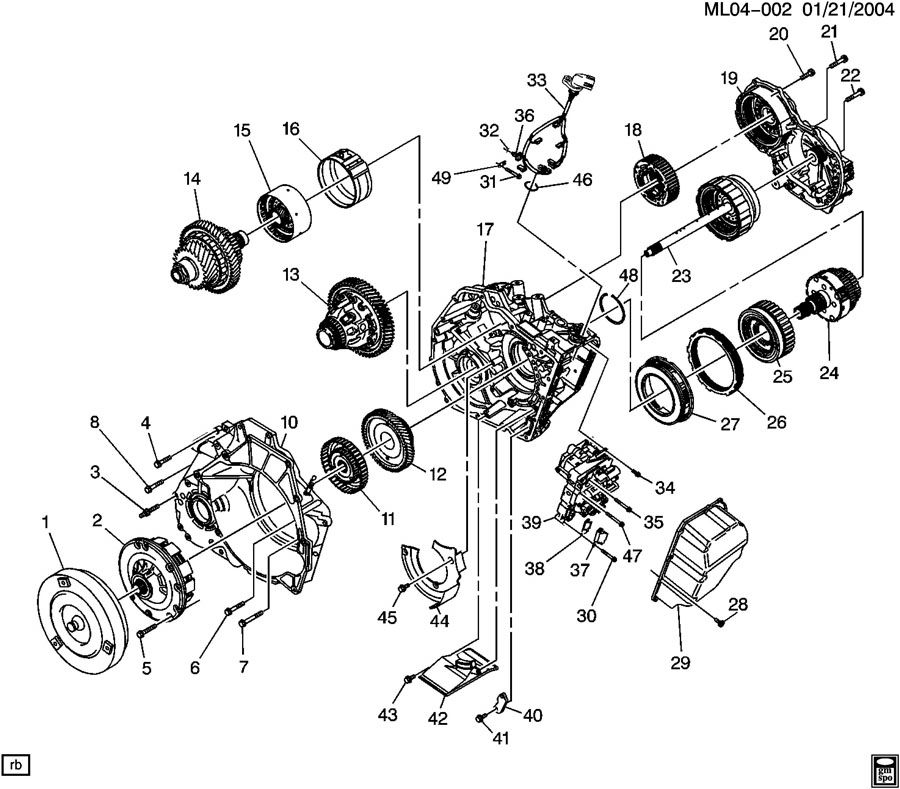 AUTOMATIC TRANSMISSION PART 1 CASE & RELATED PARTS