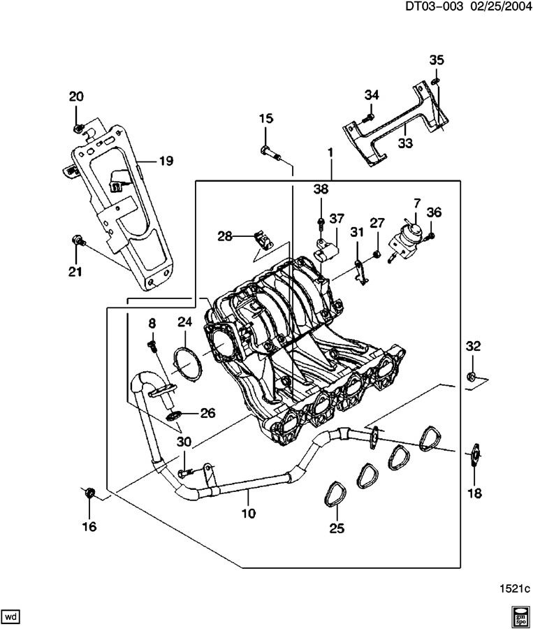 2005 Chevy Cobalt Exhaust System Diagram