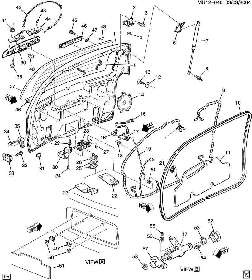 2002 Pontiac Montana Window Parts Diagram. Pontiac. Auto