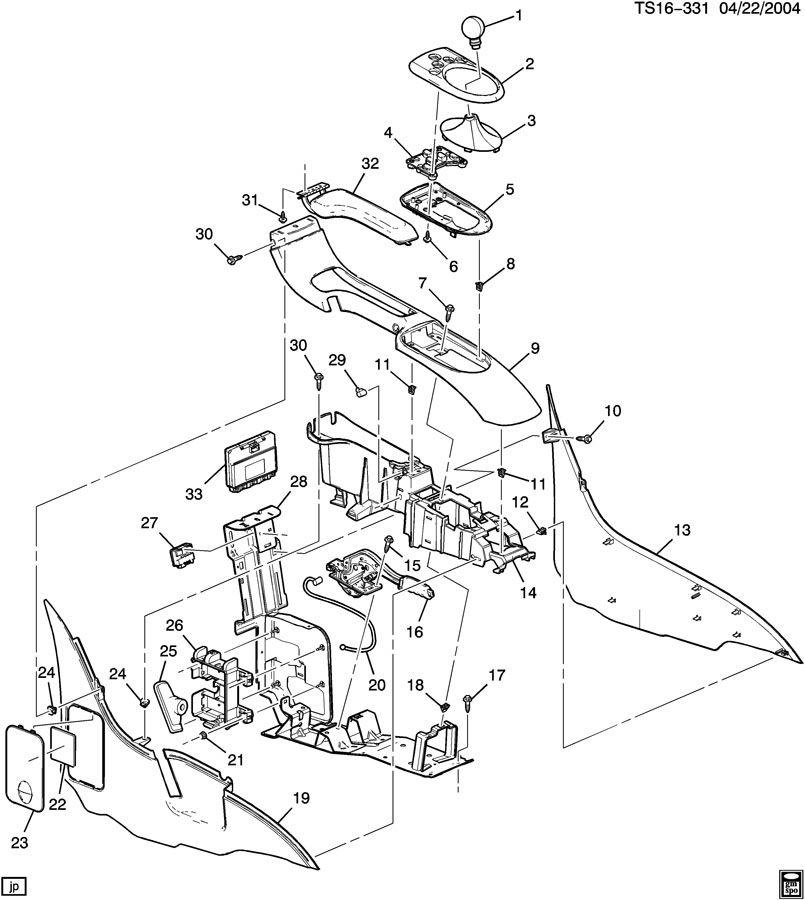 Chevrolet TRAILBLAZER CONSOLE/FLOOR
