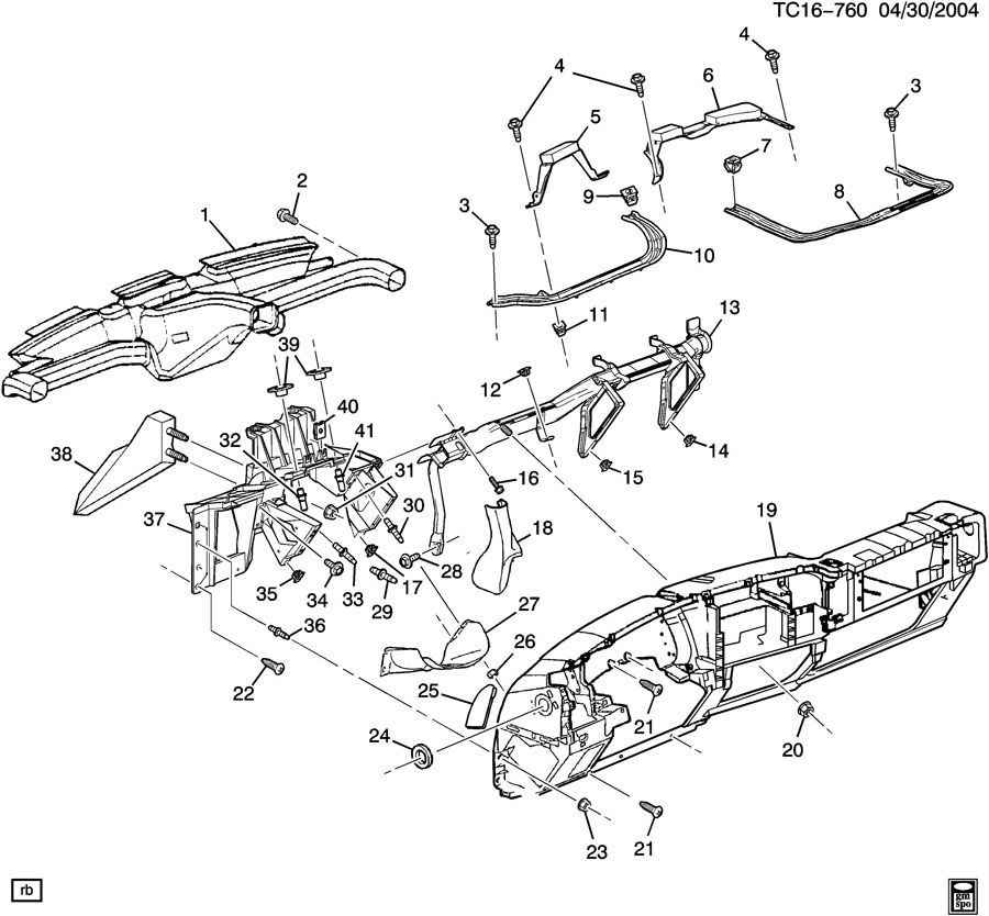 INSTRUMENT PANEL & RELATED PARTS PART 3 SUPPORTS