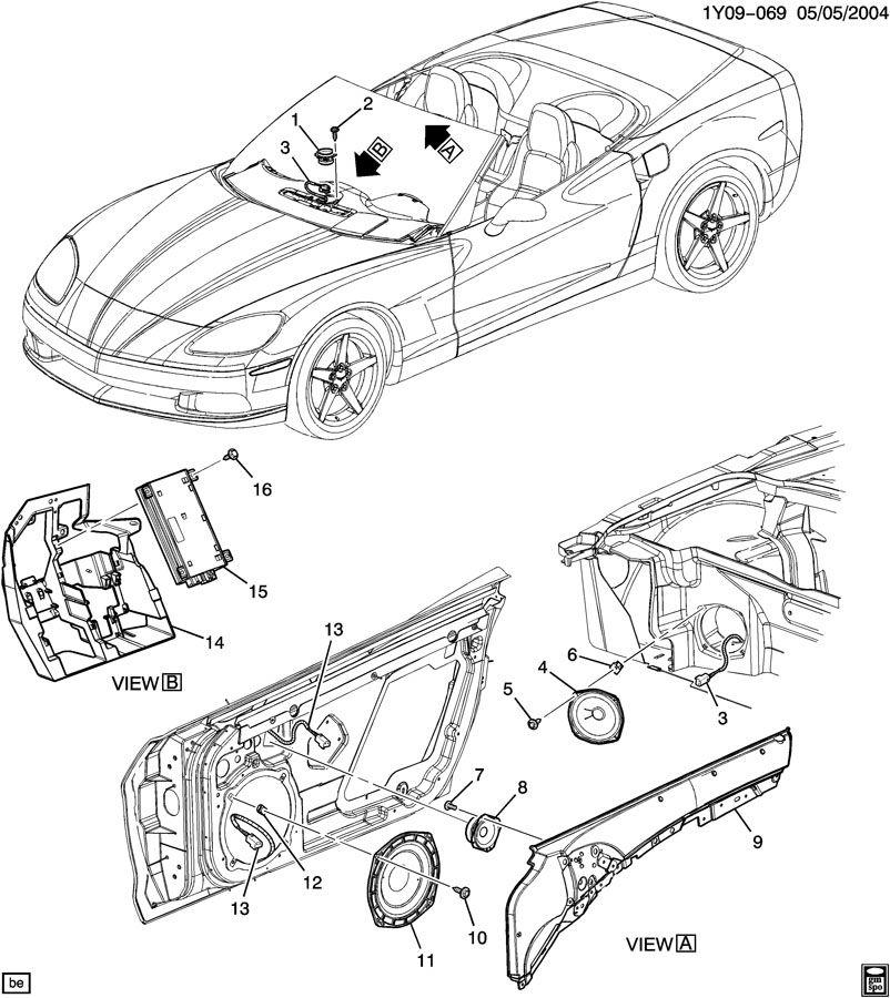 Chevrolet Corvette AUDIO SYSTEM