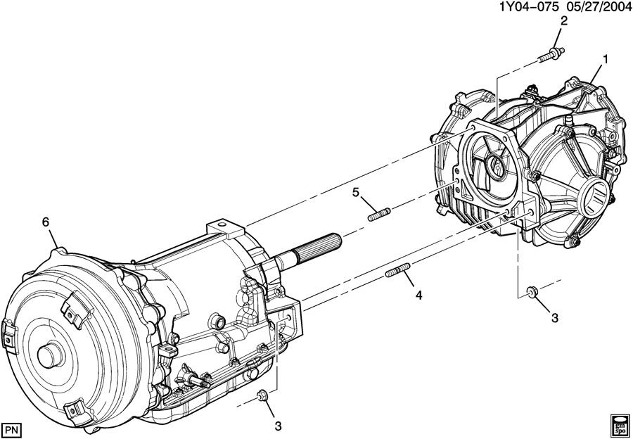 TRANSAXLE MOUNTING-AUTO TRANS TO DIFFERENTIAL