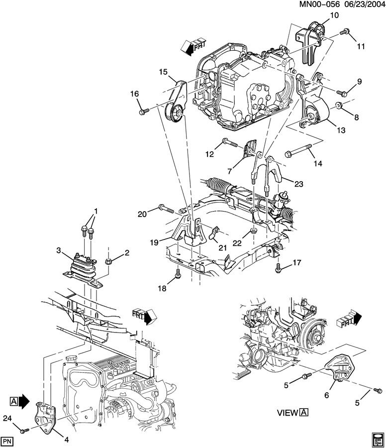 1999 Oldsmobile Alero Engine 2 4l Diagram