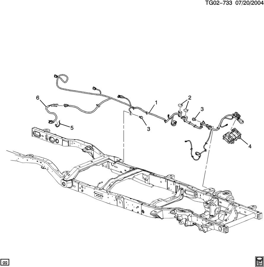 2005 Chevrolet EXPRESS WIRING HARNESS/CHASSIS