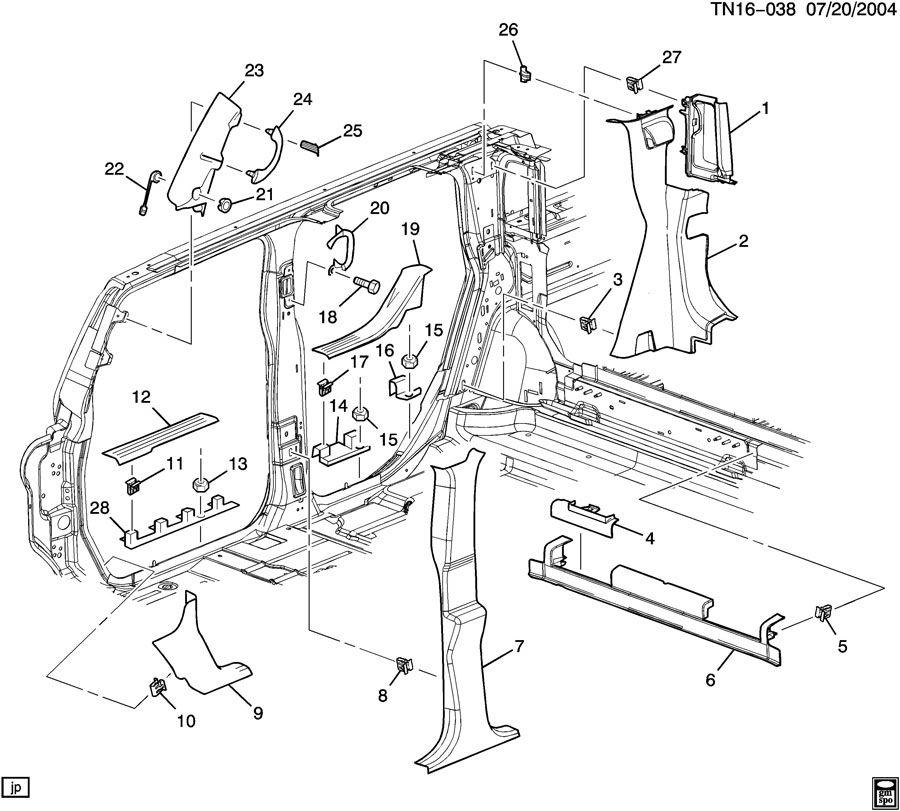 Hummer H2 TRIM/INTERIOR-BODY SIDE