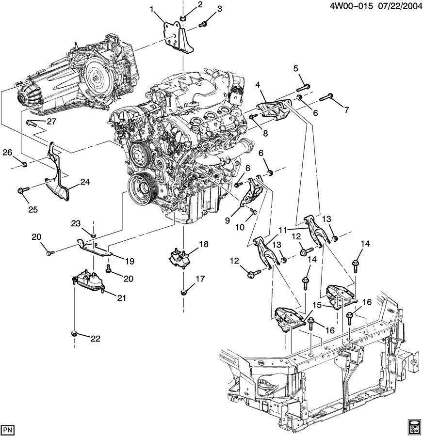 2006 Buick LaCrosse ENGINE & TRANSMISSION MOUNTING