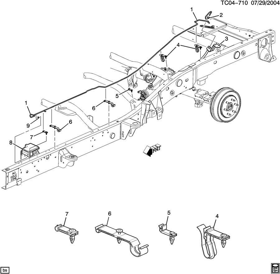 2004 GMC Sierra BRAKE LINES/INTERMEDIATE