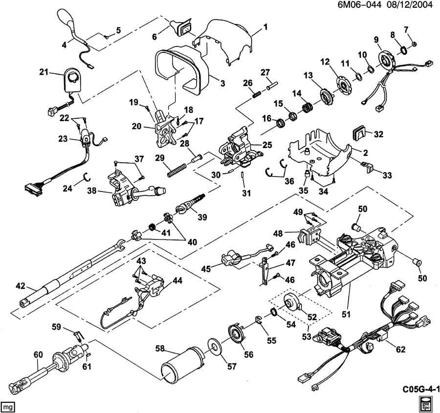 STEERING COLUMN/MANUAL TILT