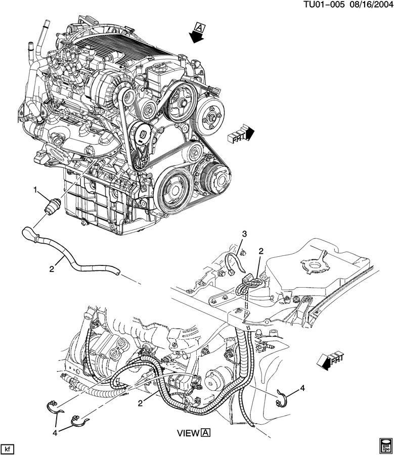 chevy uplander engine diagram