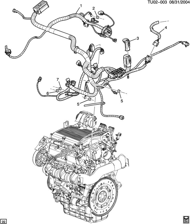 Chevrolet UPLANDER WIRING HARNESS/ENGINE