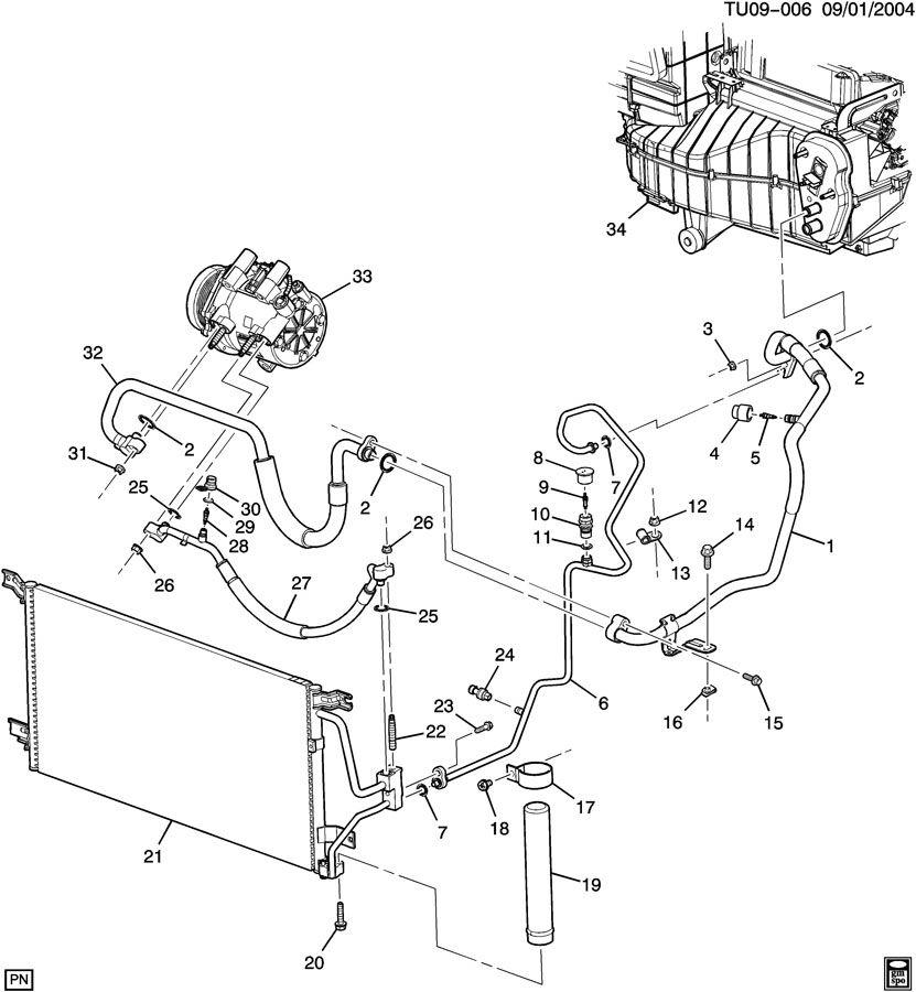 Pontiac MONTANA A/C REFRIGERATION SYSTEM