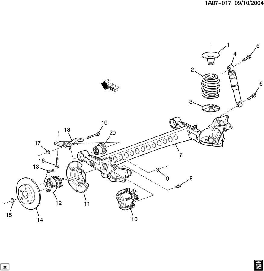 2009 Saturn Vue SUSPENSION/REAR