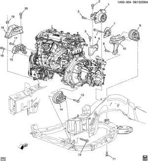 ENGINE & TRANSMISSION MOUNTINGL4