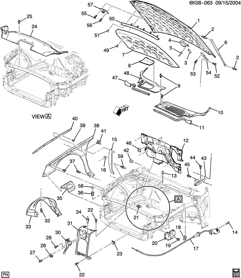 Cadillac Concours SHEET METAL/FRONT END