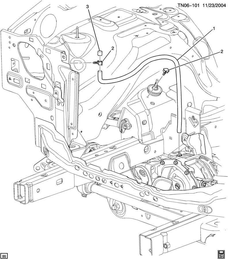 2006 Hummer H3 VENT HOSE/FRONT AXLE
