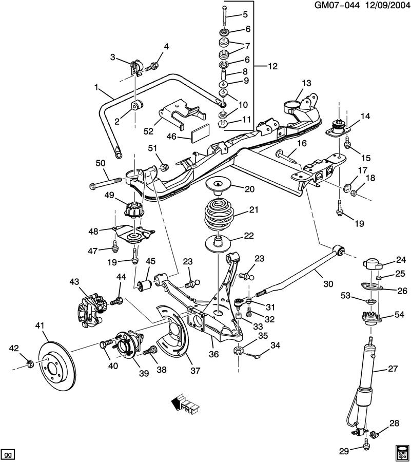 1998 Buick Park Avenue SUSPENSION/REAR