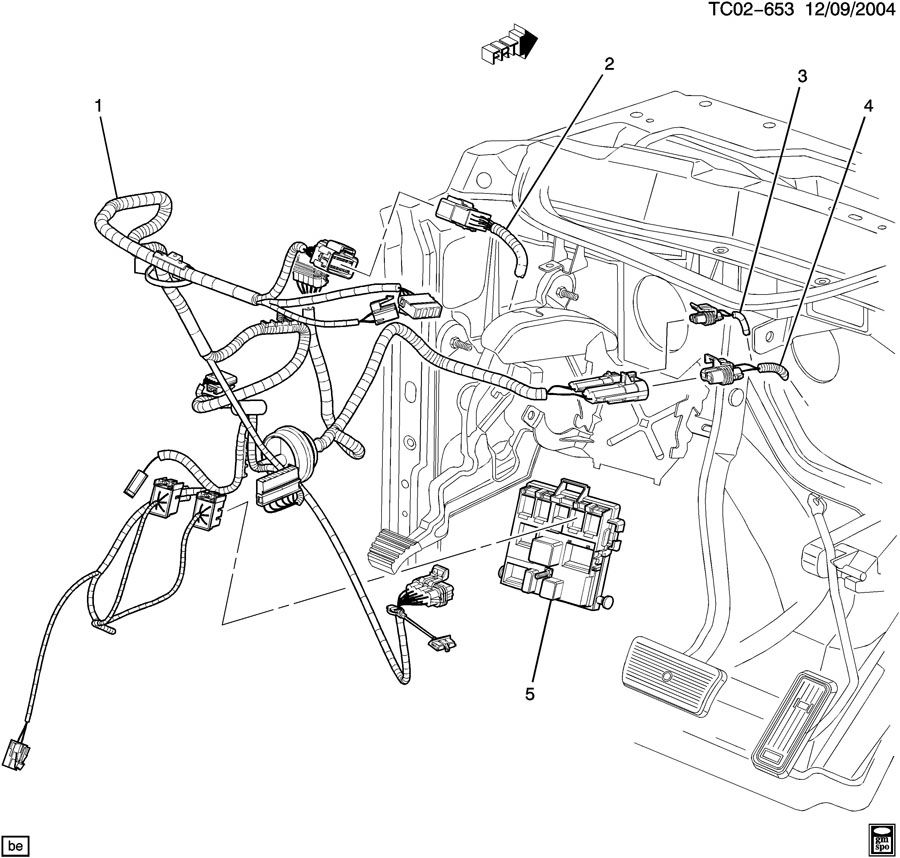 WIRING HARNESS/INSTRUMENT PANEL-CLUTCH PEDAL
